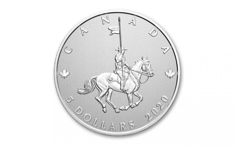 2020 Canada $5 1/4-oz Silver Royal Canadian Mounted Police 100th Anniversary Gem Specimen