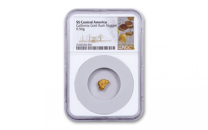 SSCA .51-.60G GOLD NUGGET NGC