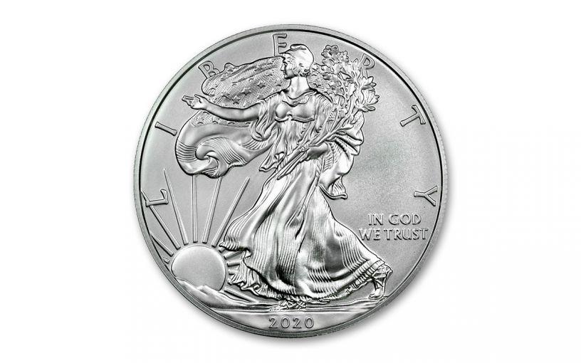 2020-W $1 1-oz Burnished Silver Eagle BU