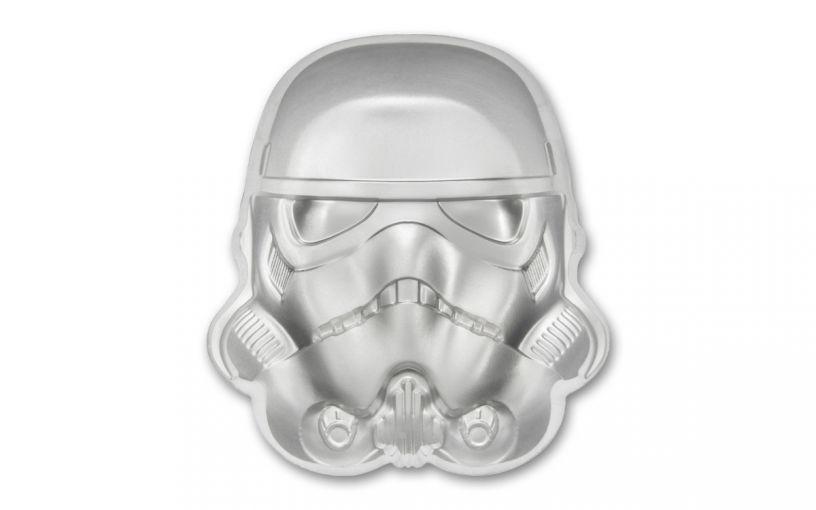 2020 Niue $5 2-oz Silver Stormtrooper Helmet Coin BU