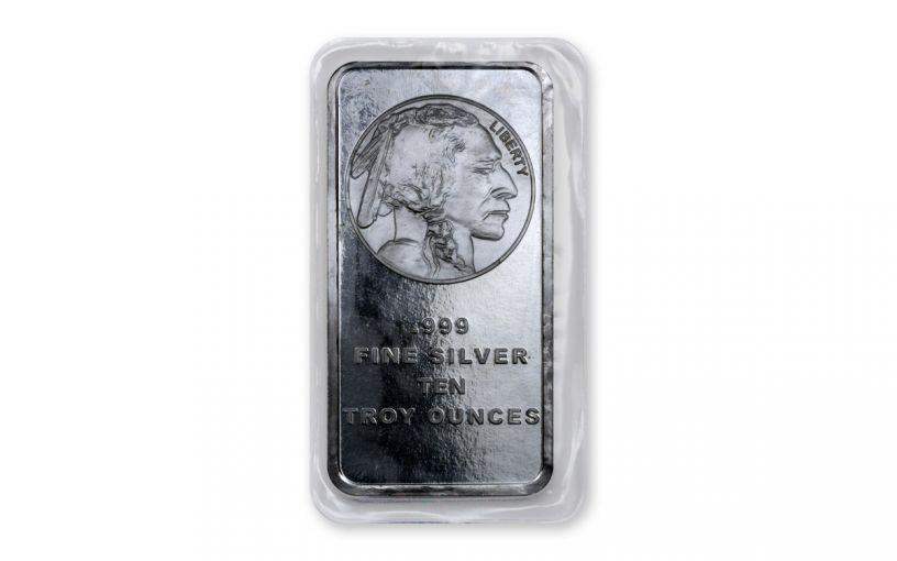 10-oz Silver American Buffalo Bar BU