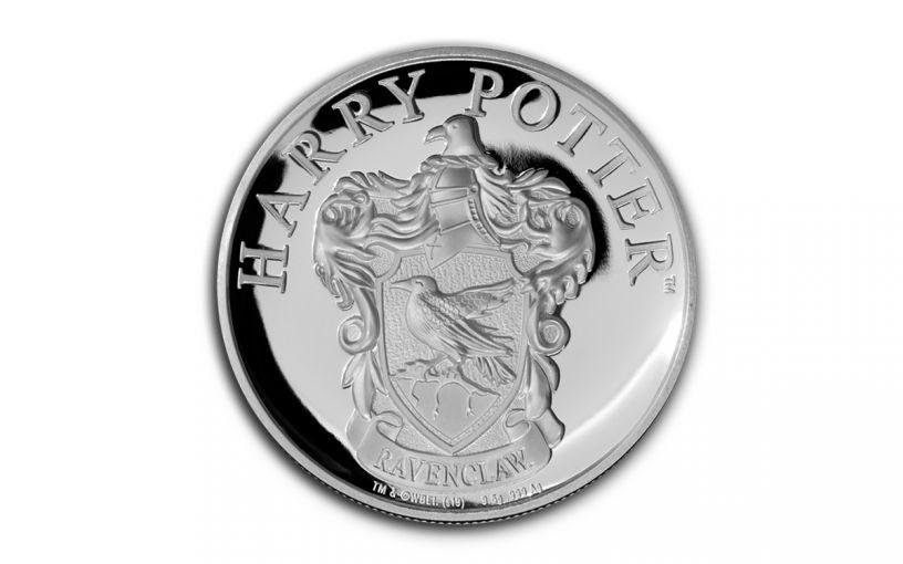 2020 Gibraltar £1 1/3-oz Silver Harry Potter Hogwarts Ravenclaw House Proof