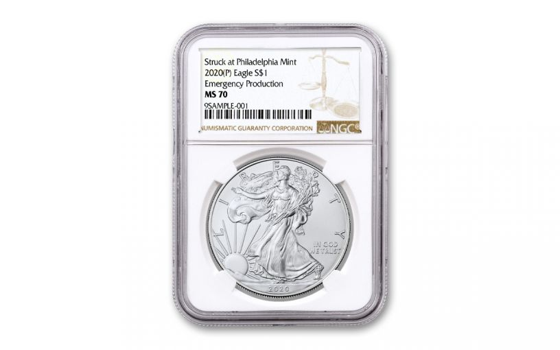 2020-P $1 1OZ SILVER EAGLE PHILLY NGC MS70 BROWN