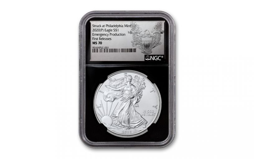 2020-P $1 1OZ SLV EAG PHILLY NGCMS70FR BC EXC SILH