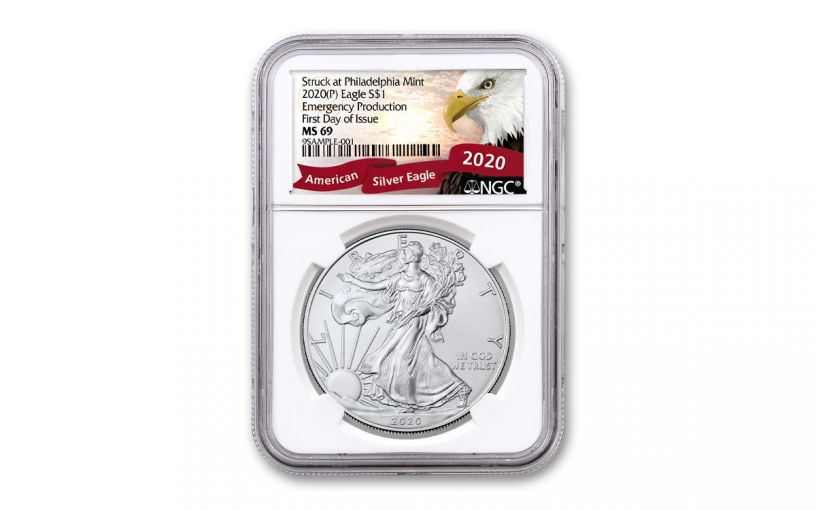 2020(P) $1 SILVER EAGLE PHILLY NGC MS69 FDI EAGLE