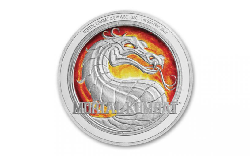 2020 Niue $2 1-oz Silver Mortal Kombat Colorized Proof