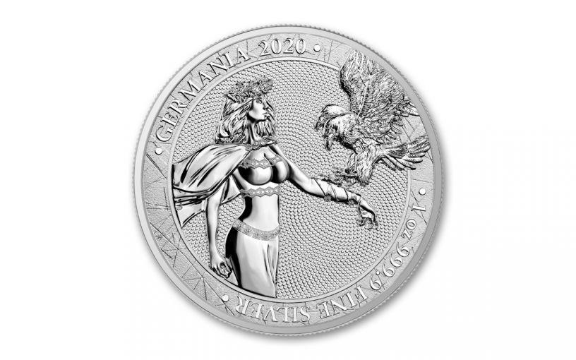 2020 1-oz Silver Germania BU Medal