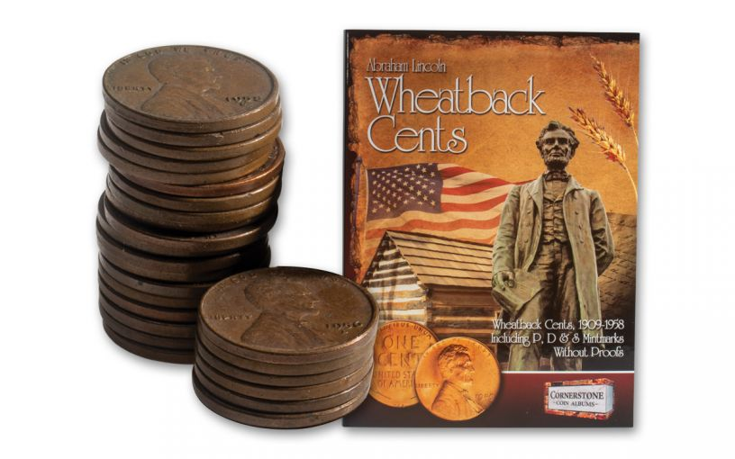 1909–1958 Lincoln Wheatback Cents 25 Different VF–XF