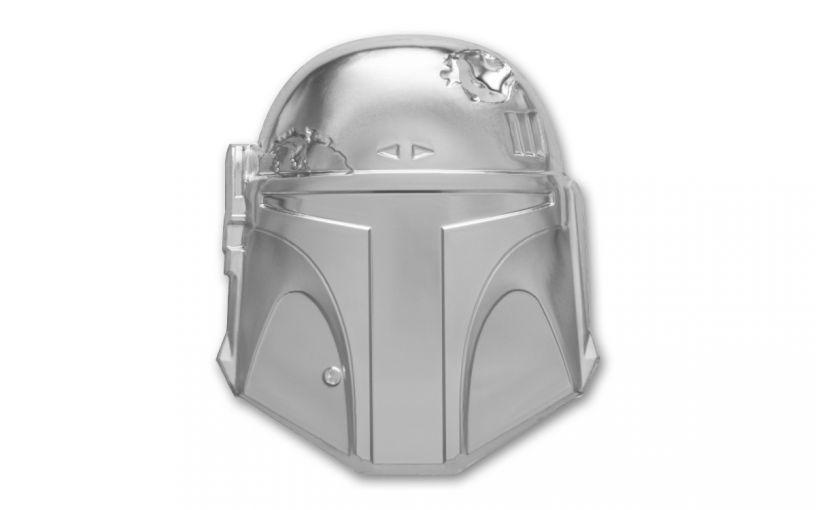 2020 Niue $5 2-oz Silver Boba Fett Helmet Ultra High Relief Proof