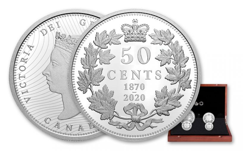 2020 Canada Silver 150th Anniversary of First National Coinage 4-Coin Proof Set