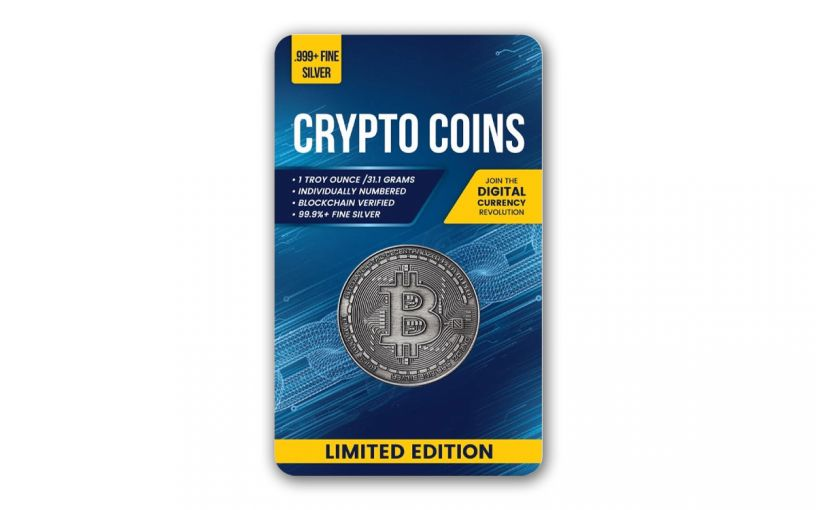 Republic of Chad 2020 5,000 Francs CFA 1-oz Silver Bitcoin Crypto Currency Coin Antiqued in Digital Certicard