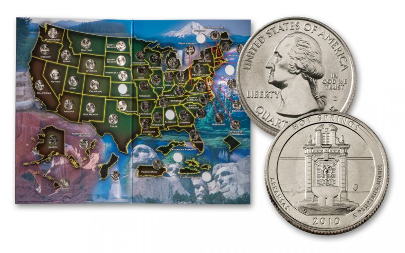 2010–2019 America the Beautiful Quarters 50-Coin Set w/Map