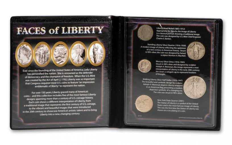 1883–2001 Faces of Liberty 5-pc Set