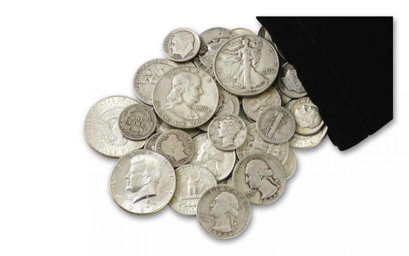 Quarter-Pound Bag of Vintage U.S. Silver Coins