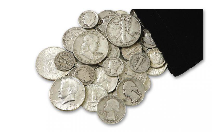 """1892–1964 Quarter-Pound Bag of """"Classic"""" U.S. Silver"""