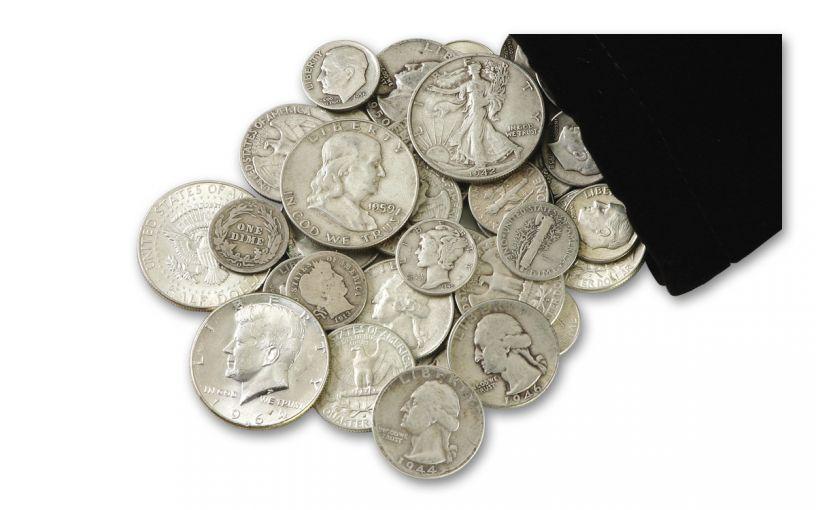 "1892–1964 Half-Pound Bag of ""Classic"" U.S. Silver"