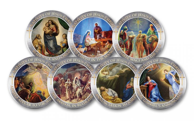 Cold Enamel Collection: Nativity of Jesus Christ 7-pc Uncirculated Set