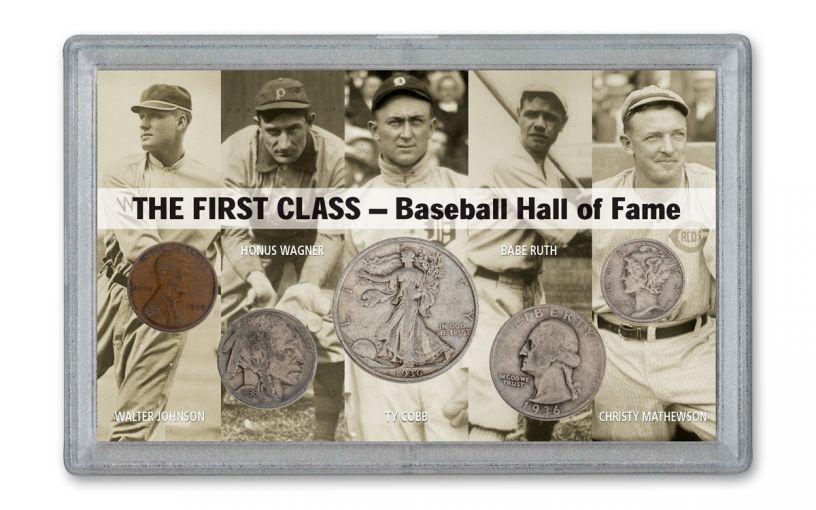 1936 Baseball Hall of Fame 5-Coin Set G–VG