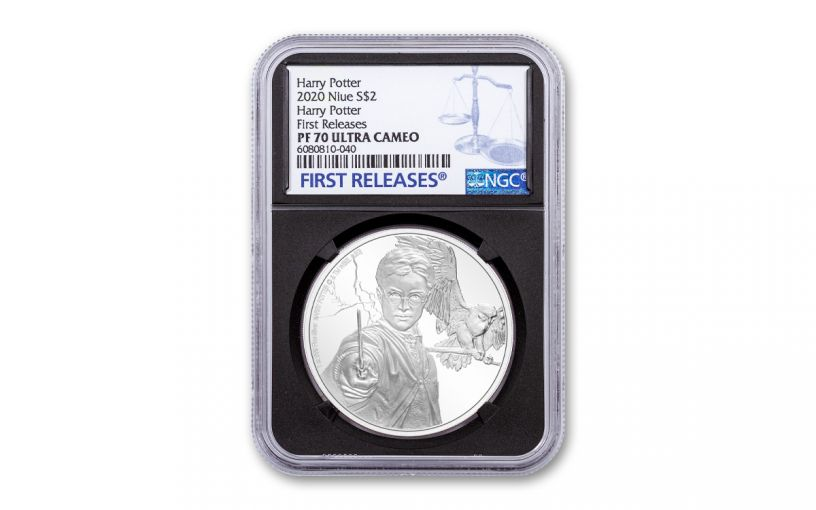 2020 Niue $2 1 oz Silver Harry Potter Classics - Harry Potter Proof Coin NGC PF70 UC FR Black Core