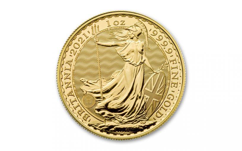2021 Great Britain £100 1-oz Gold Britannia BU