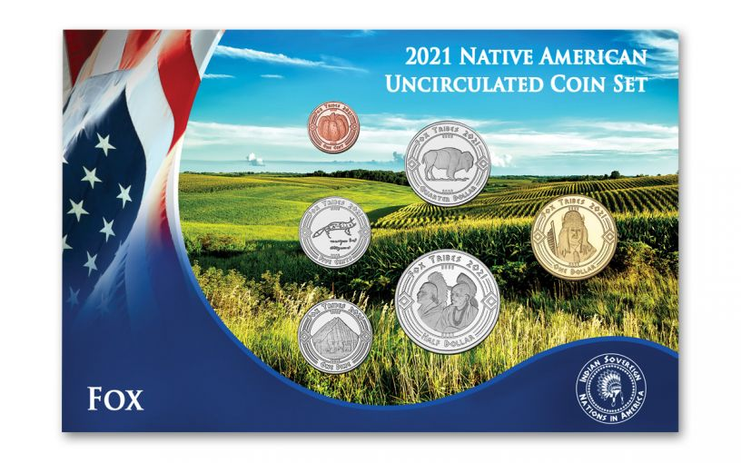 2021 Native American Fox Tribe 6-pc Set BU
