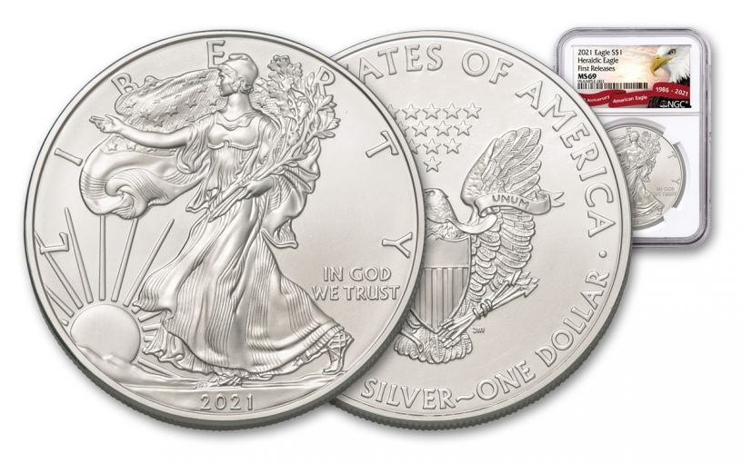 2021 $1 1-oz Silver Eagle NGC MS69 First Releases