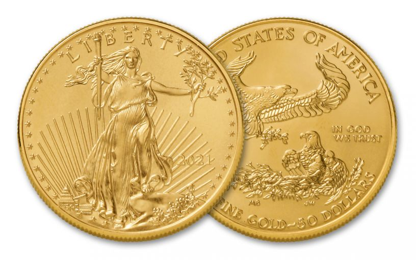 2021 $50 1-oz Gold American Eagle Type 1 BU