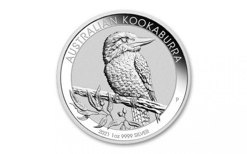 2021 Australia $1 1-oz Silver Kookaburra BU
