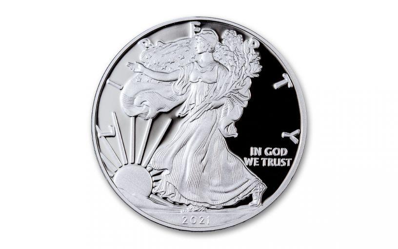 2021-W $1 1-oz American Silver Eagle Type 1 Proof