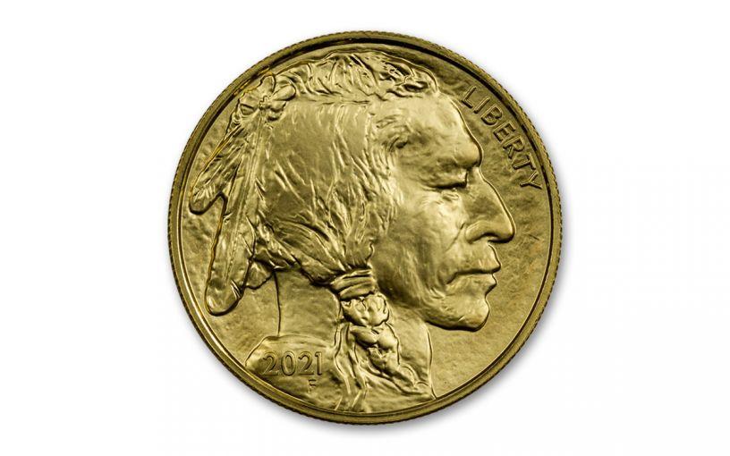 2021 $50 1-OZ GOLD BUFFALO BU