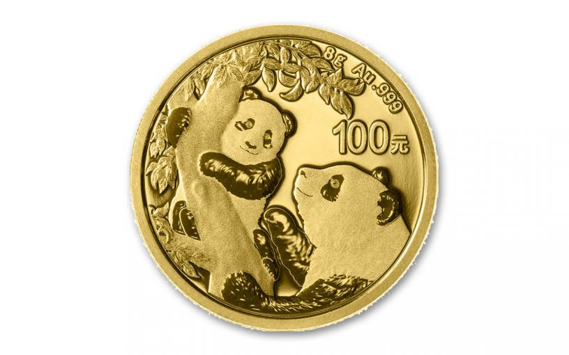 2021 China 8-gm Gold Panda Brilliant Uncirculated