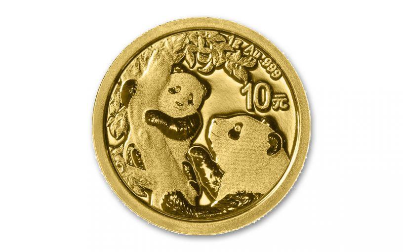 2021 China 1-gm Gold Panda Brilliant Uncirculated