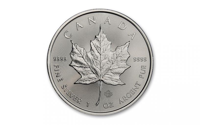 2021 Canada 1 oz Silver Maple Leaf $5 Coin GEM BU