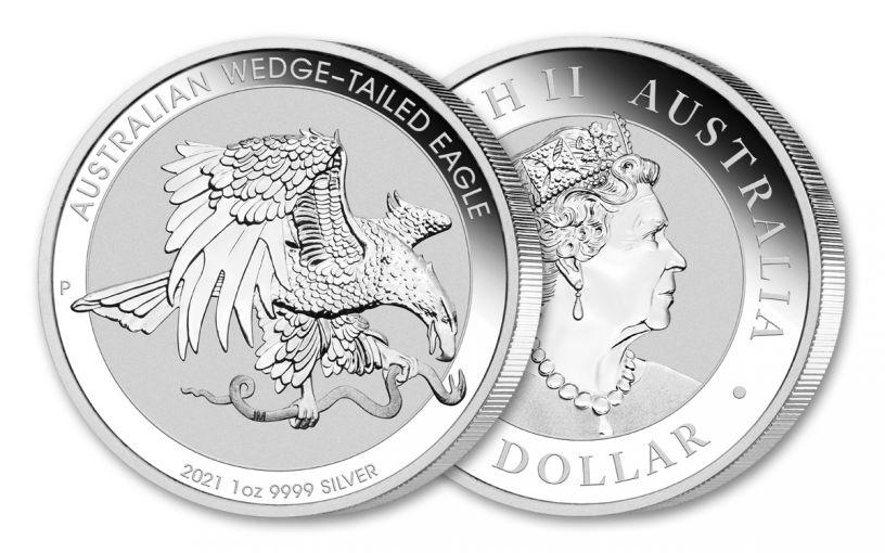 2021 Australia $1 1-oz Silver Wedge-Tailed Eagle BU