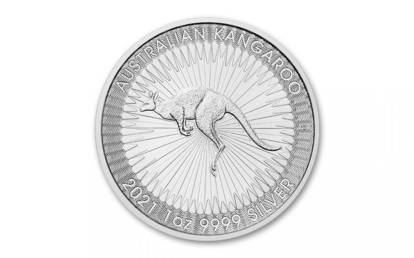 2021 Australia $1 1-oz Silver Kangaroo BU
