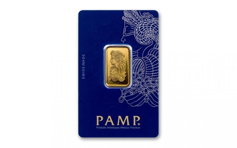 PAMP Fortuna 10-gm Gold Bar in Assay Certificate