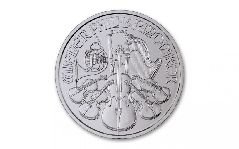 2021 Austria €1.5 1-oz Silver Philharmonic Gem BU