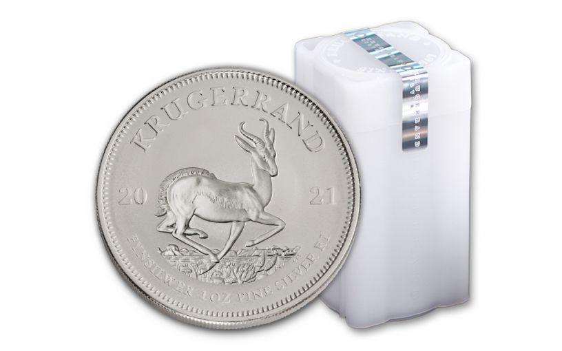 2021 South Africa 1-oz Silver Krugerrand BU – Roll of 25