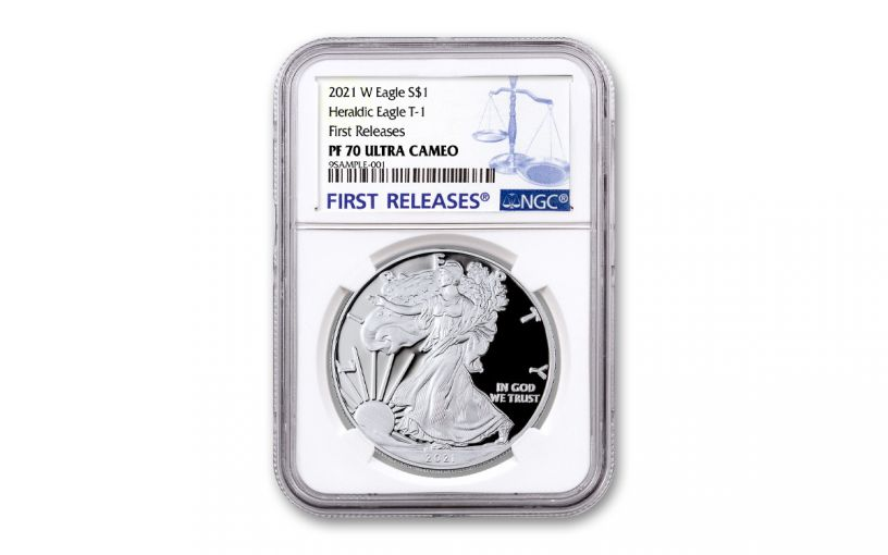 2021-W $1 1-oz American Silver Eagle Type 1 Proof NGC PF70UC First Releases