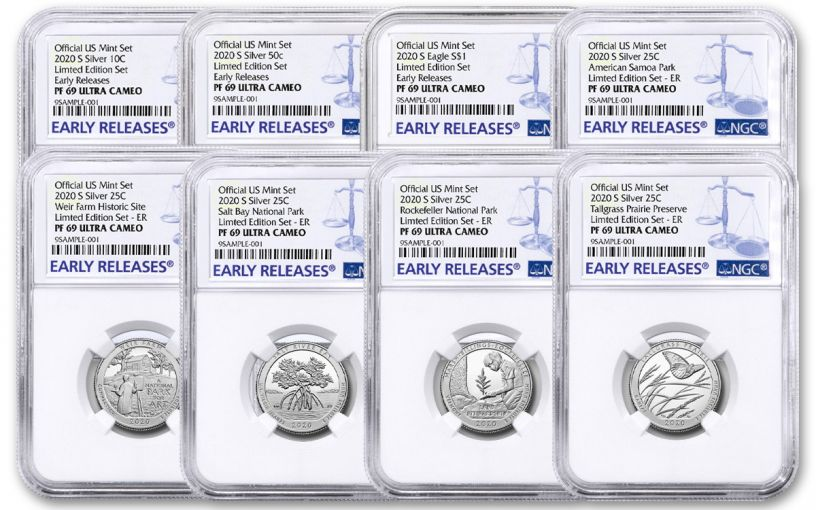 2020-S United States Mint Limited Edition Silver Proof Set NGC PF69UC Early Releases