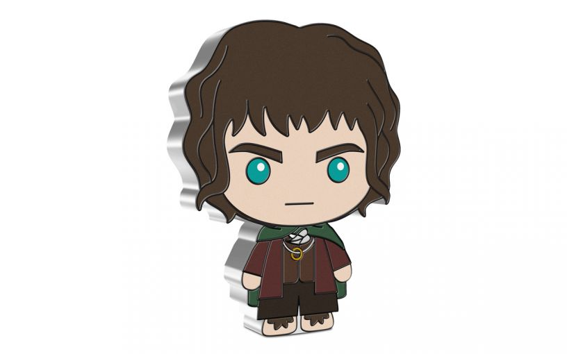2021 Niue $2 1-oz Lord of the Rings™ Chibi Frodo Baggins Colorized Gem Proof