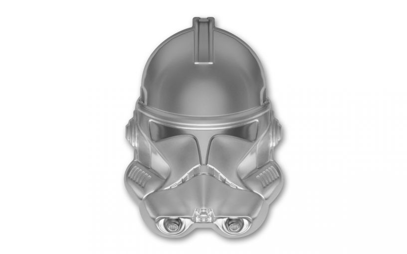 Niue 2021 Star Wars - Clone Trooper Helmet Shaped Ultra High Relief 2 oz Silver Frosted $5 Coin GEM BU OGP