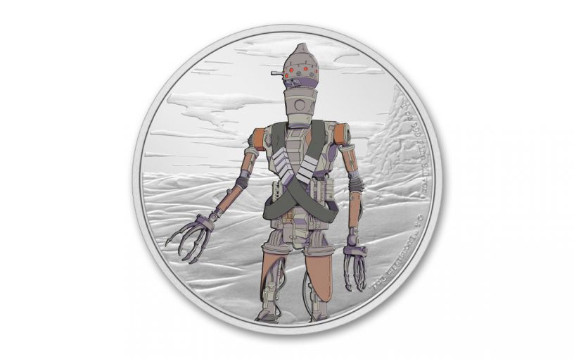 2021 Niue $2 1-oz Silver Star Wars Mandalorian™ IG-11™ Colorized Gem Proof