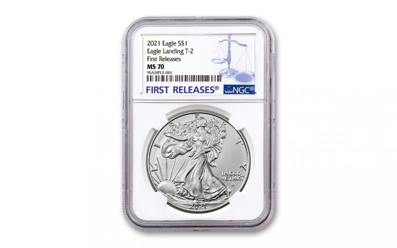2021 $1 1oz Silver Eagle T2 NGC MS70 First Releases