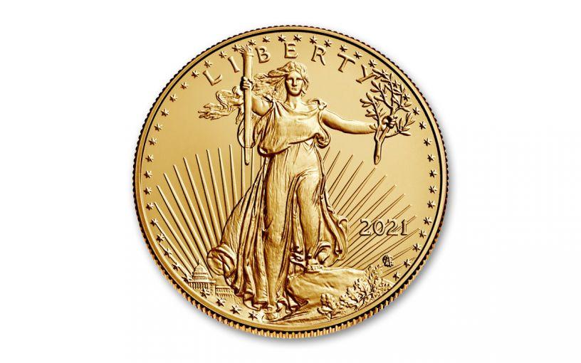 2021 $5 1/10-oz Gold Eagle Type 2 BU