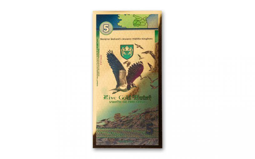 2021 1/200th -Oz Aurum Ireland Kingdom of Breifne Gold Notes