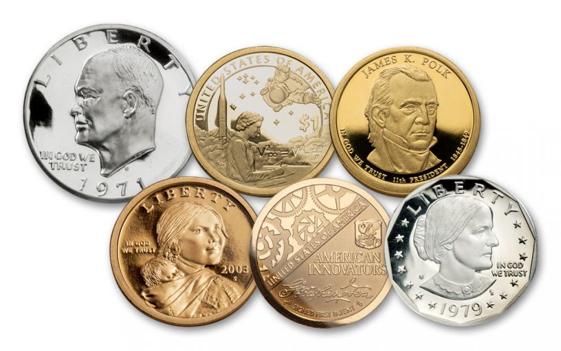 1971–2020 $1 Type Set 6-pc Proof Collection