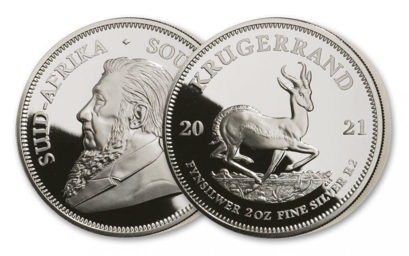2021 2oz Silver Krugerrand Proof