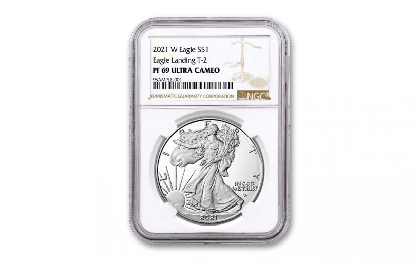 2021-W $1 1-oz Silver Eagle Type 2 Proof NGC PF69UC
