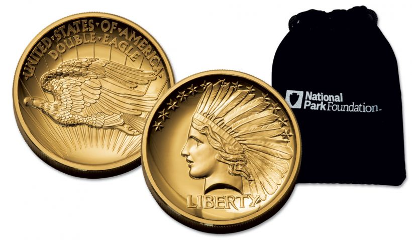 2017 1-oz Gold Double Eagle Indian High Relief Proof